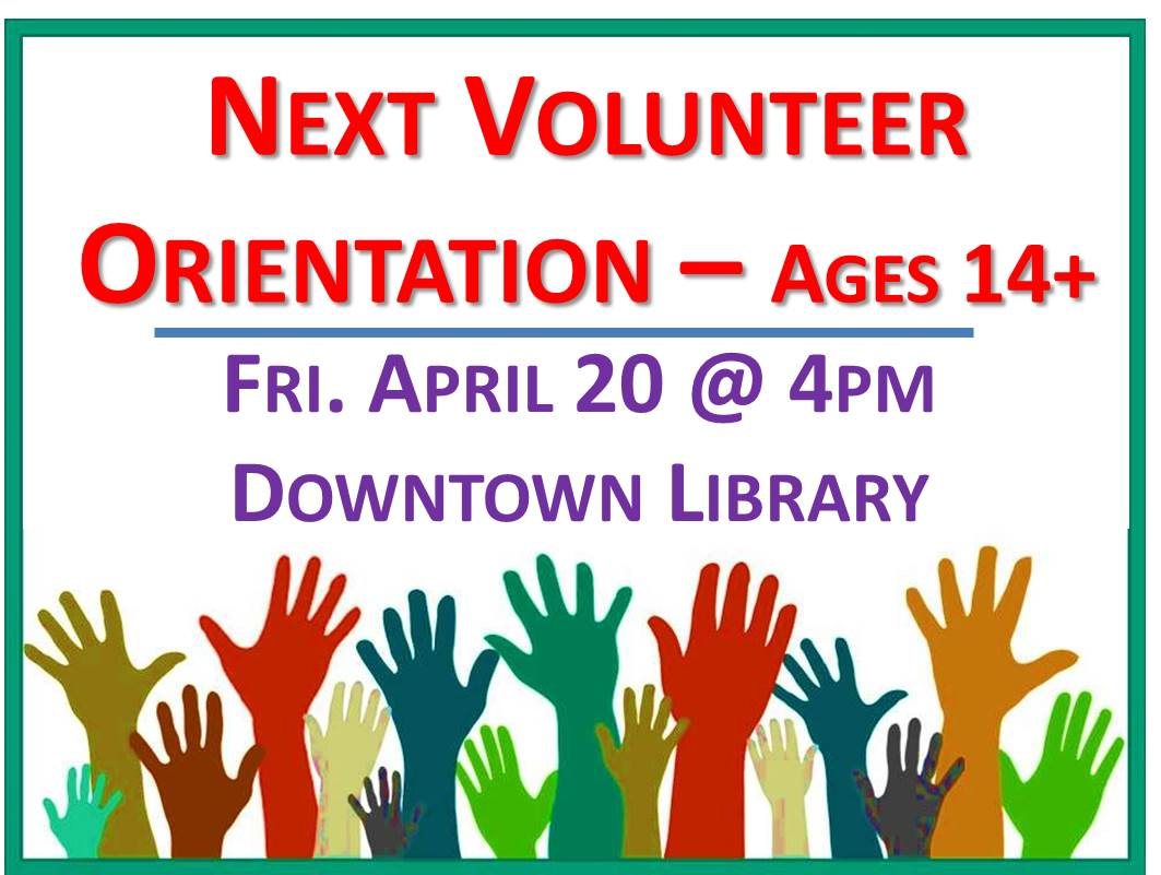 Flyer for Volunteer Orientation