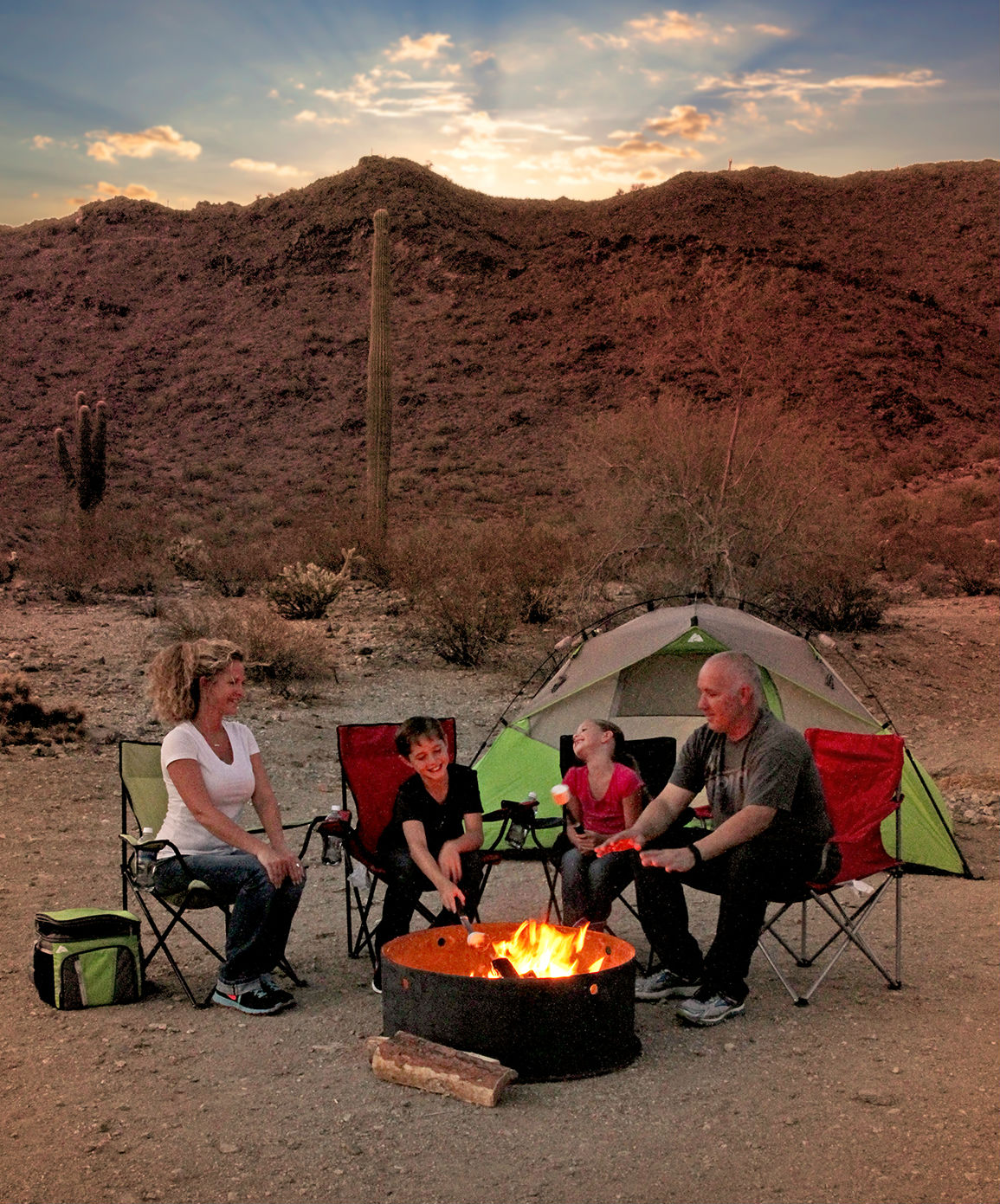Family Camping in Skyline Park