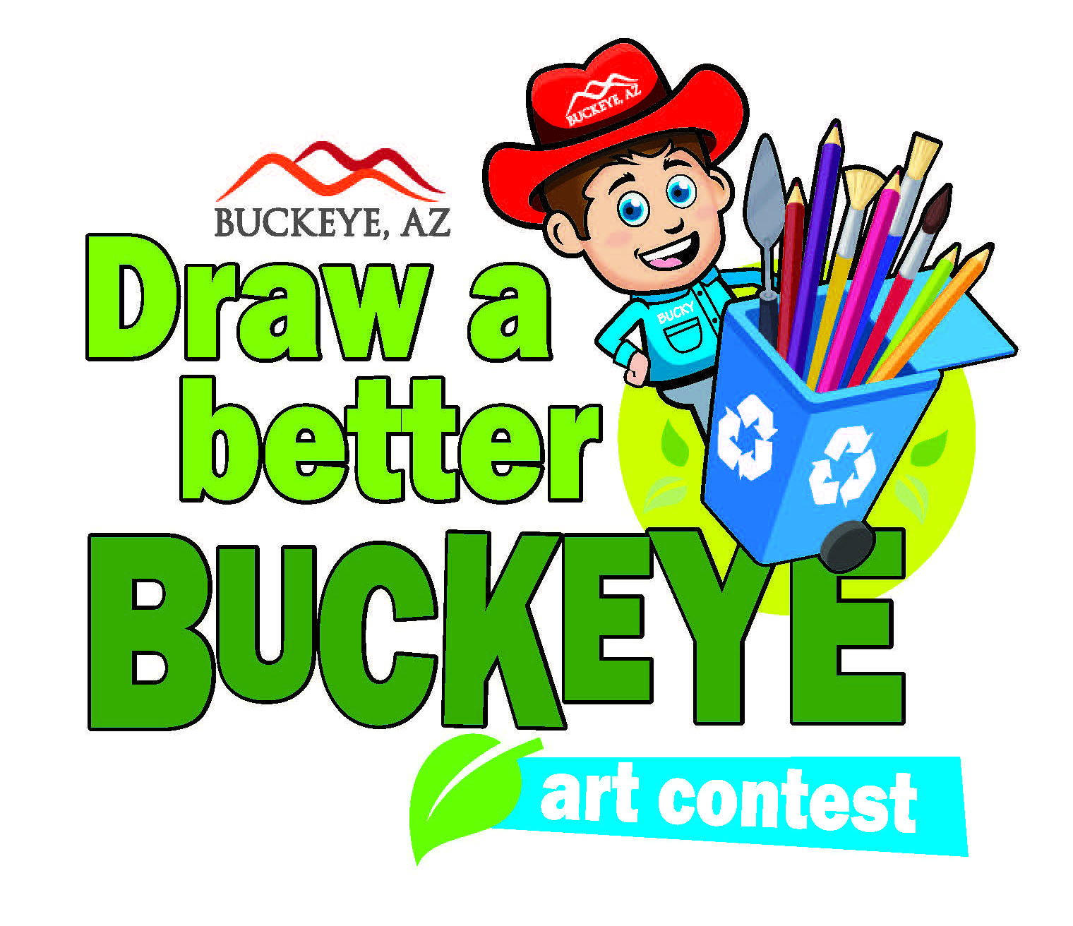 Draw Buckeye art contest logo