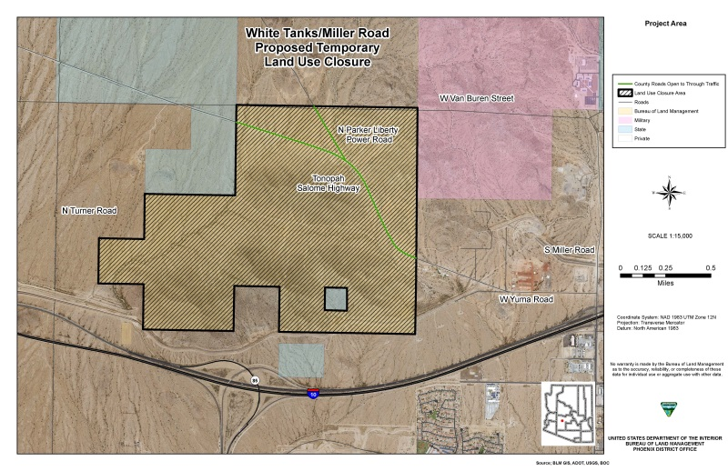 Map of BLM closed area