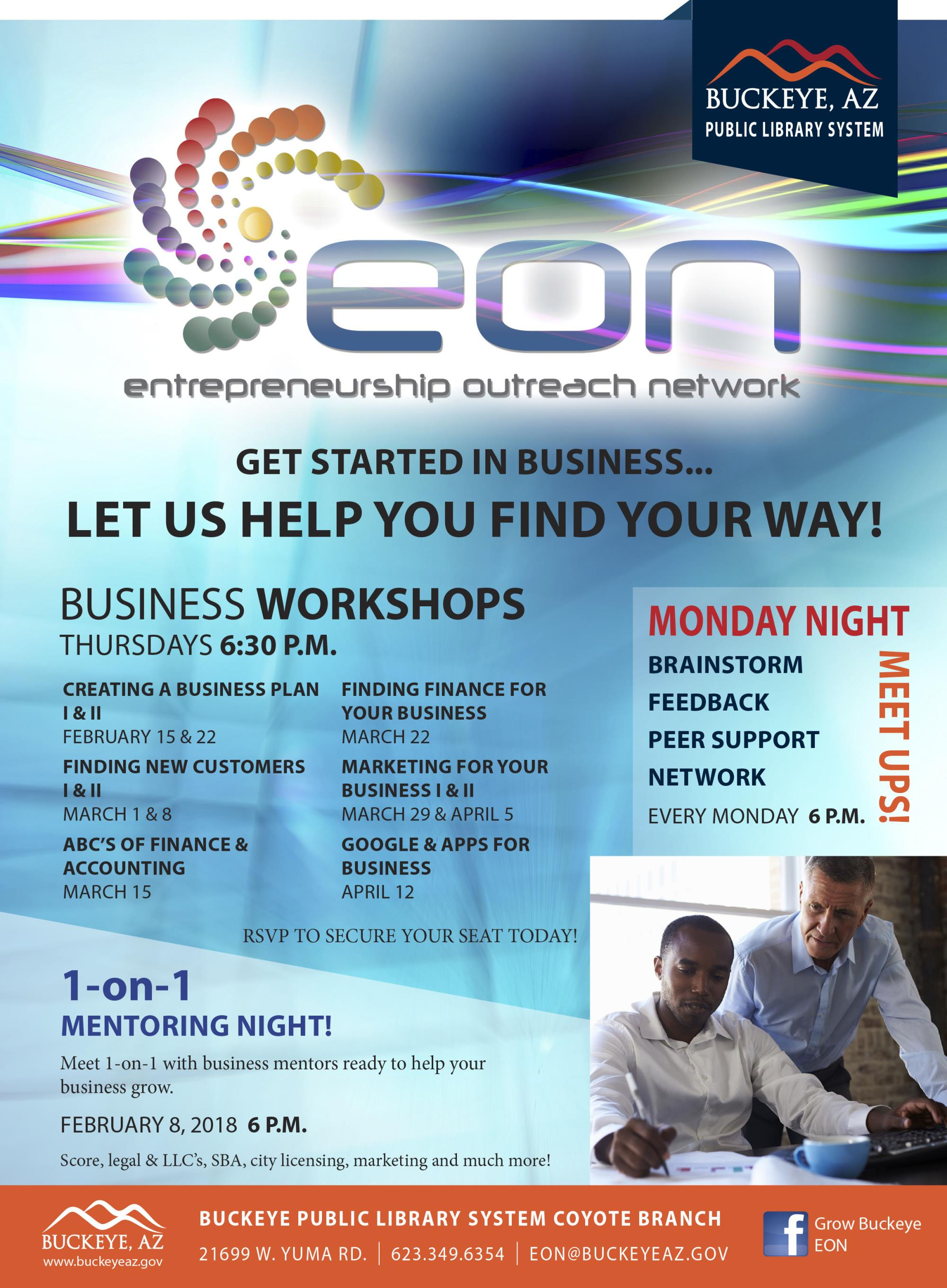 EON Business Workshop - Finding Finance For Your Business | Calendar
