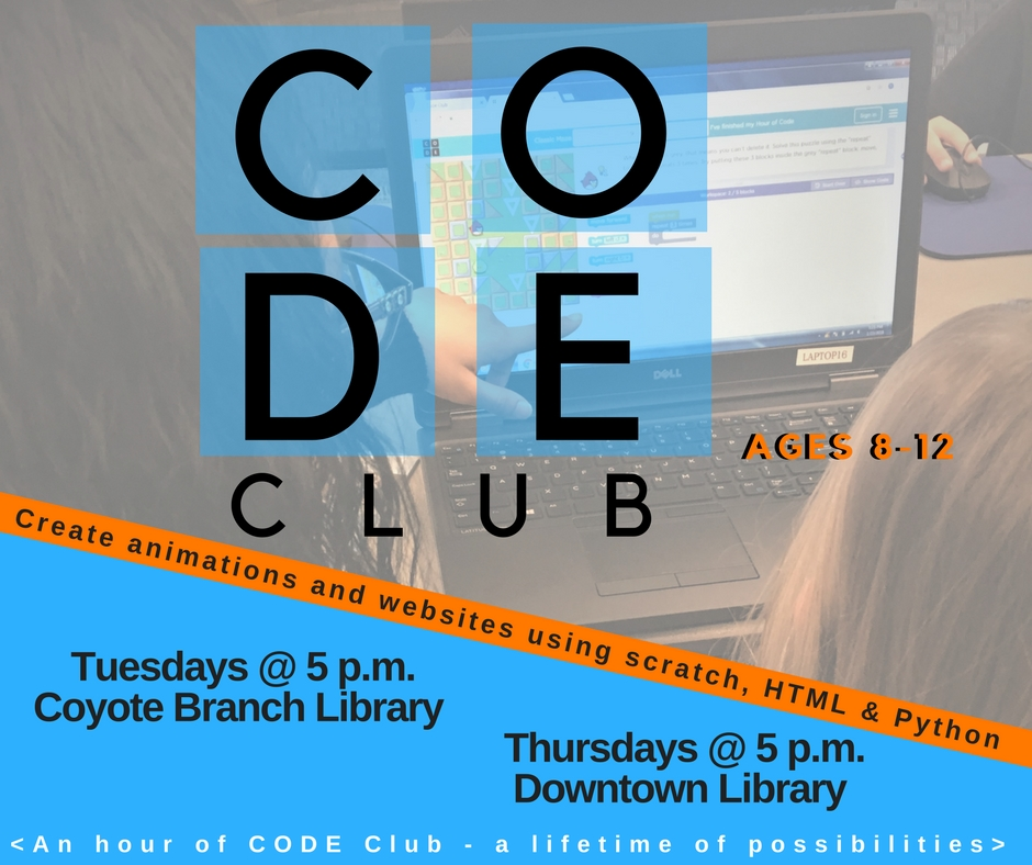 Flyer for Code Club