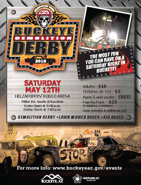 2018 Spring Demolition Derby flyer