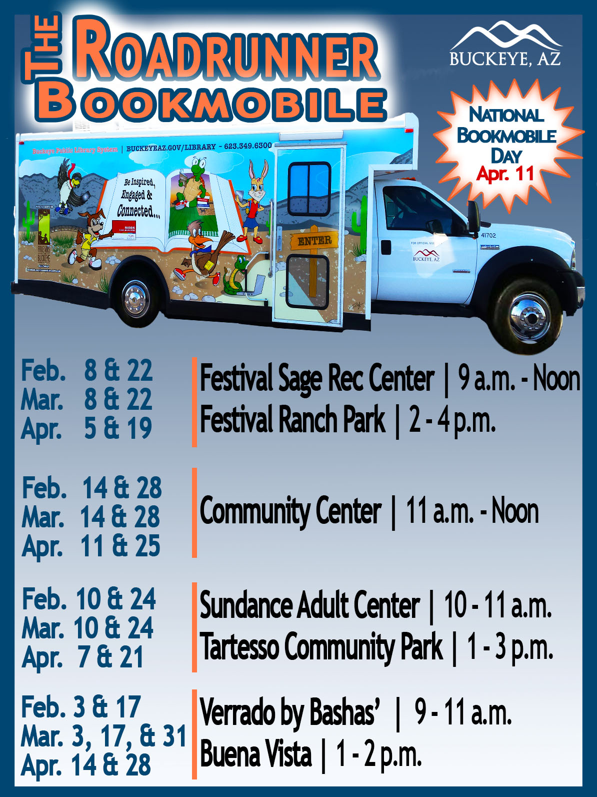 Spring 2018 Bookmobile Schedule