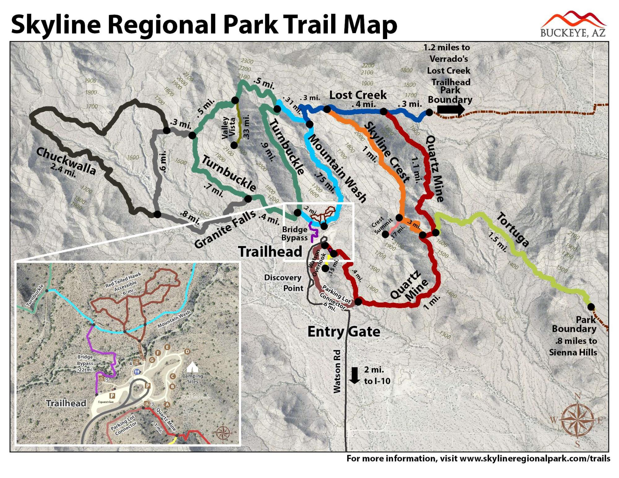 Skyline Trail Map March 2018