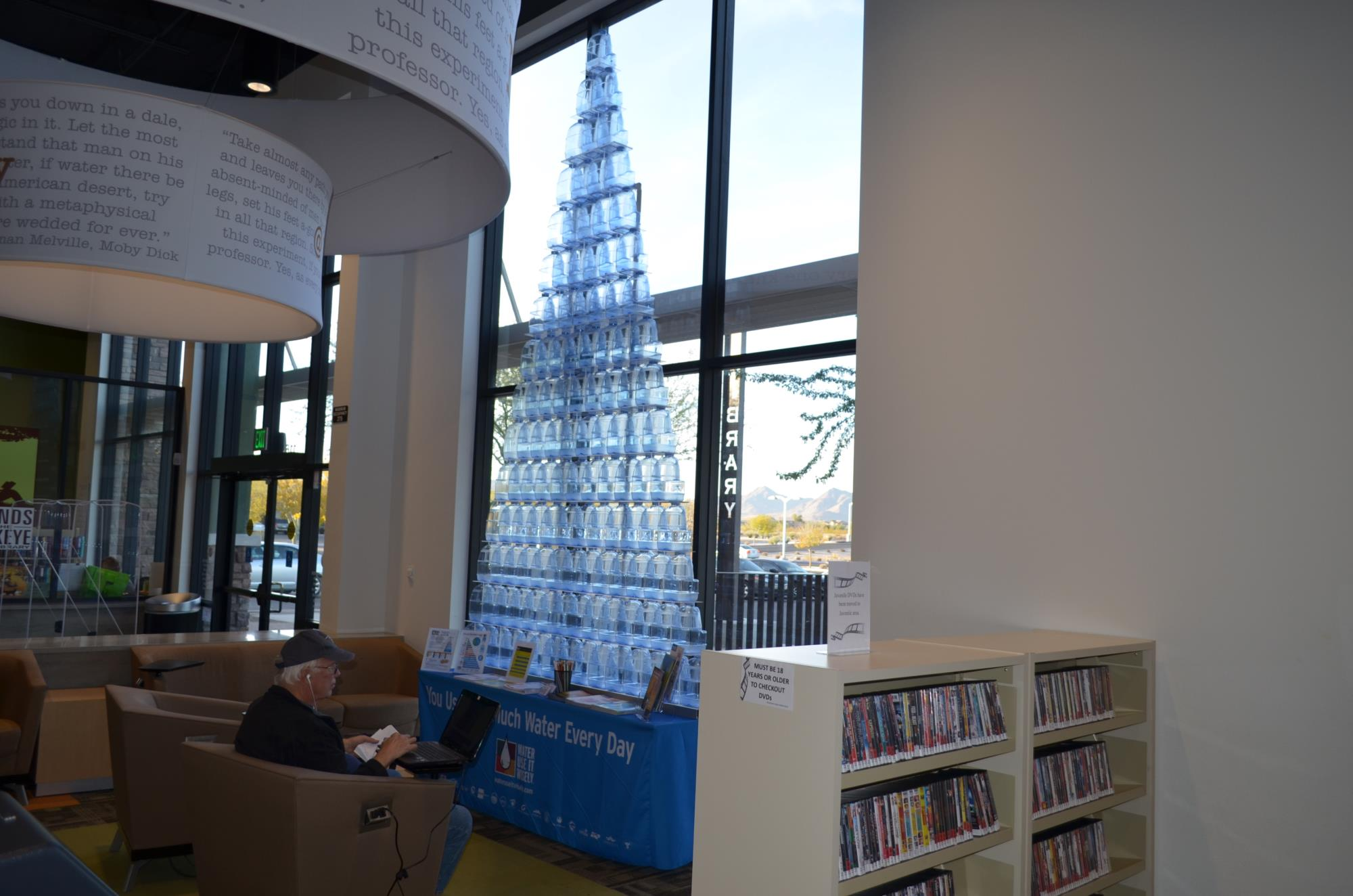Impressive water tower display returns to Coyote Library