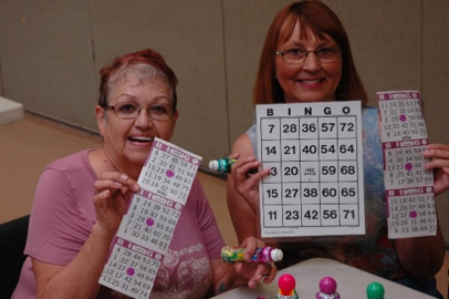 seniors playing bingo