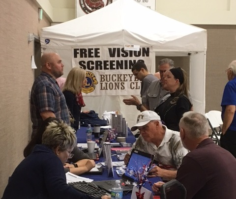 Veterans registering for services