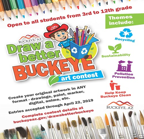 Draw Buckeye art contest flyer