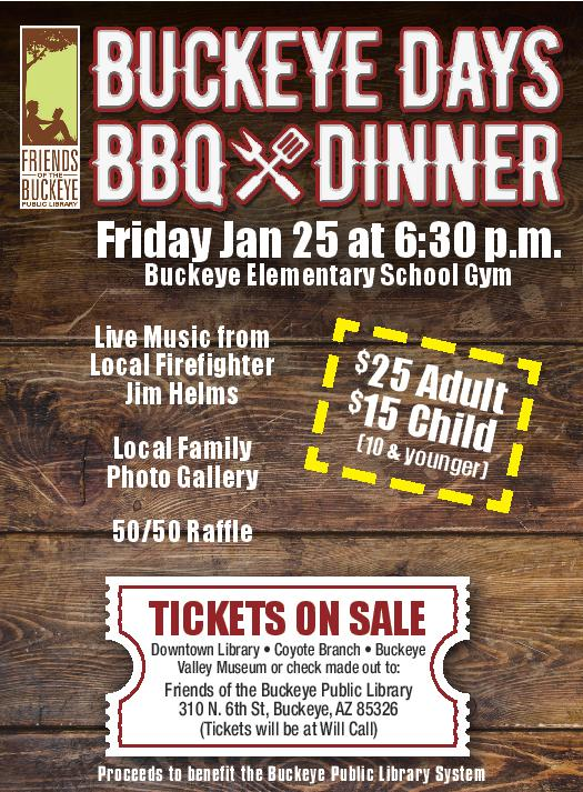 Flyer for the Buckeye Days BBQ Dinner