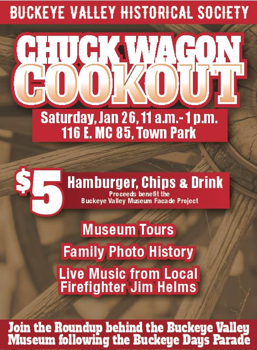 Flyer for the Chuck Wagon cookout