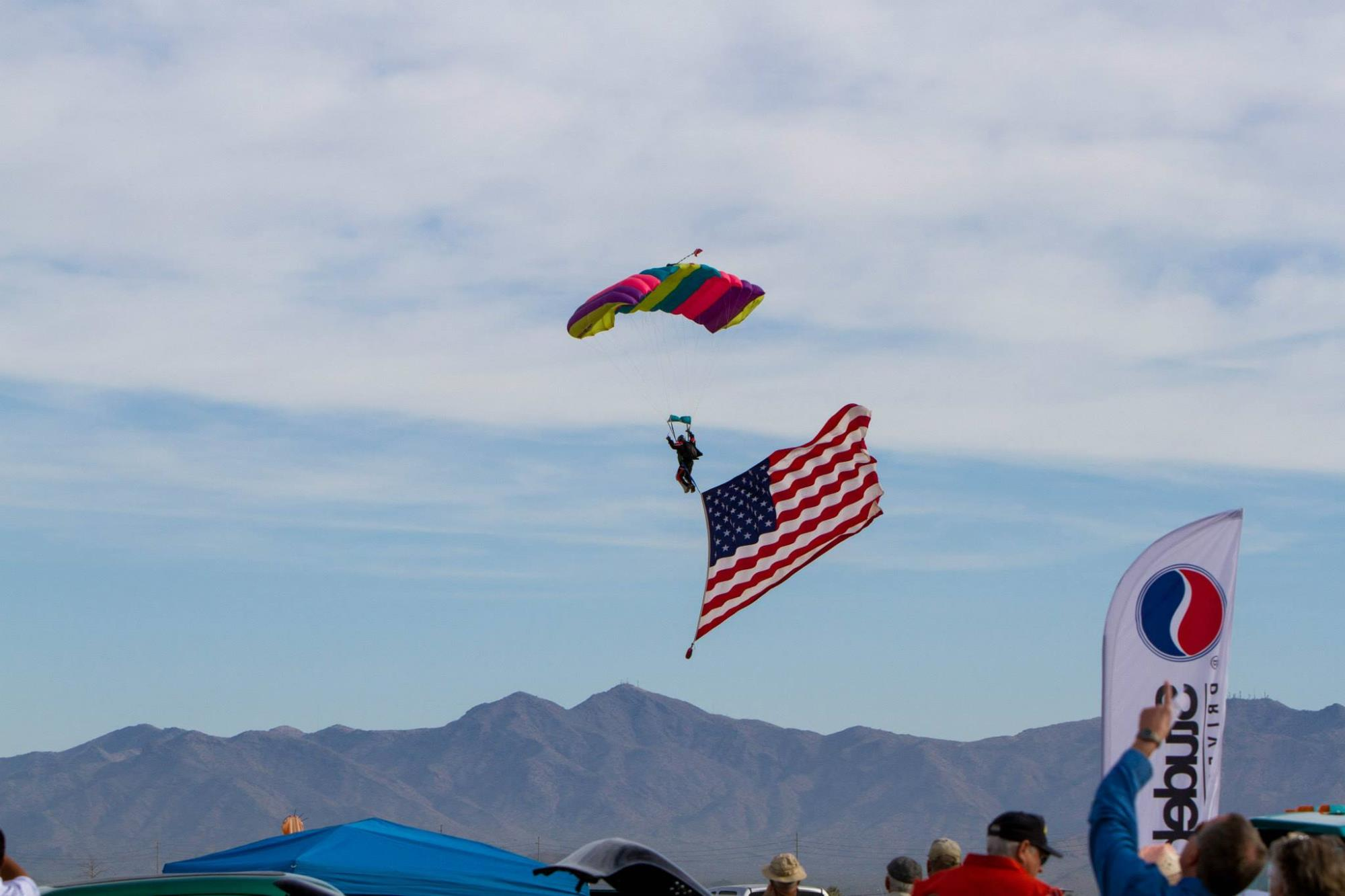 Parachute Flag drop