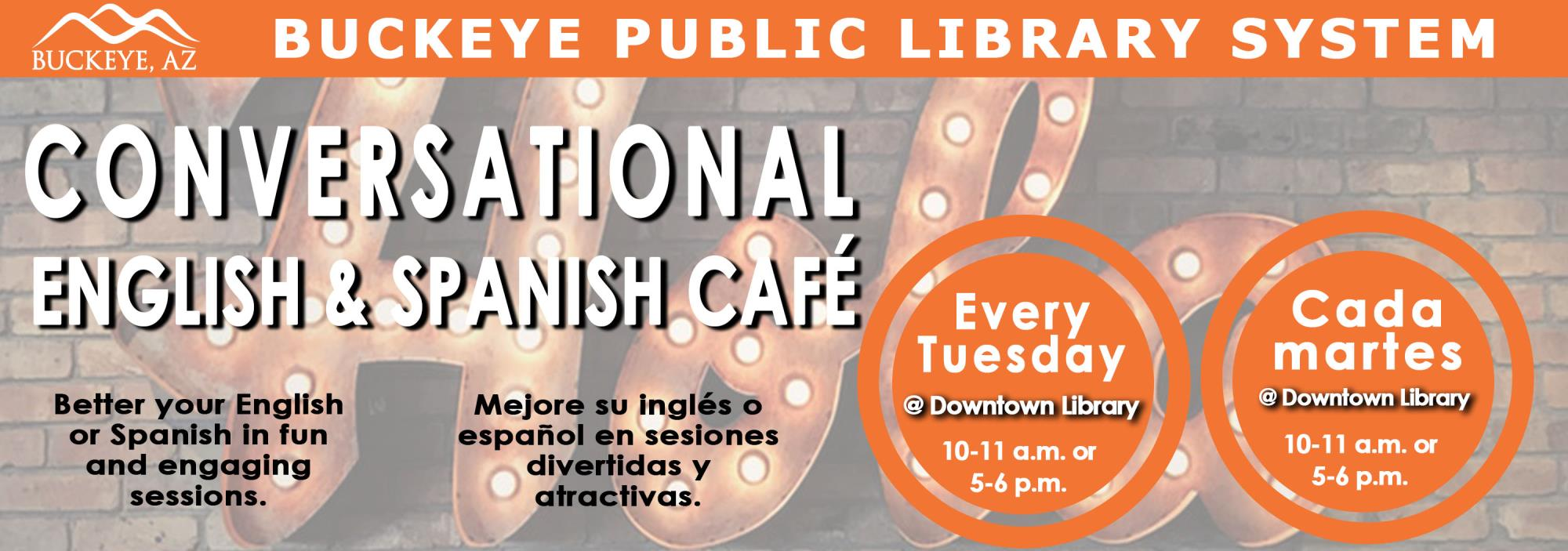 Banner Image for Spanish English Cafe