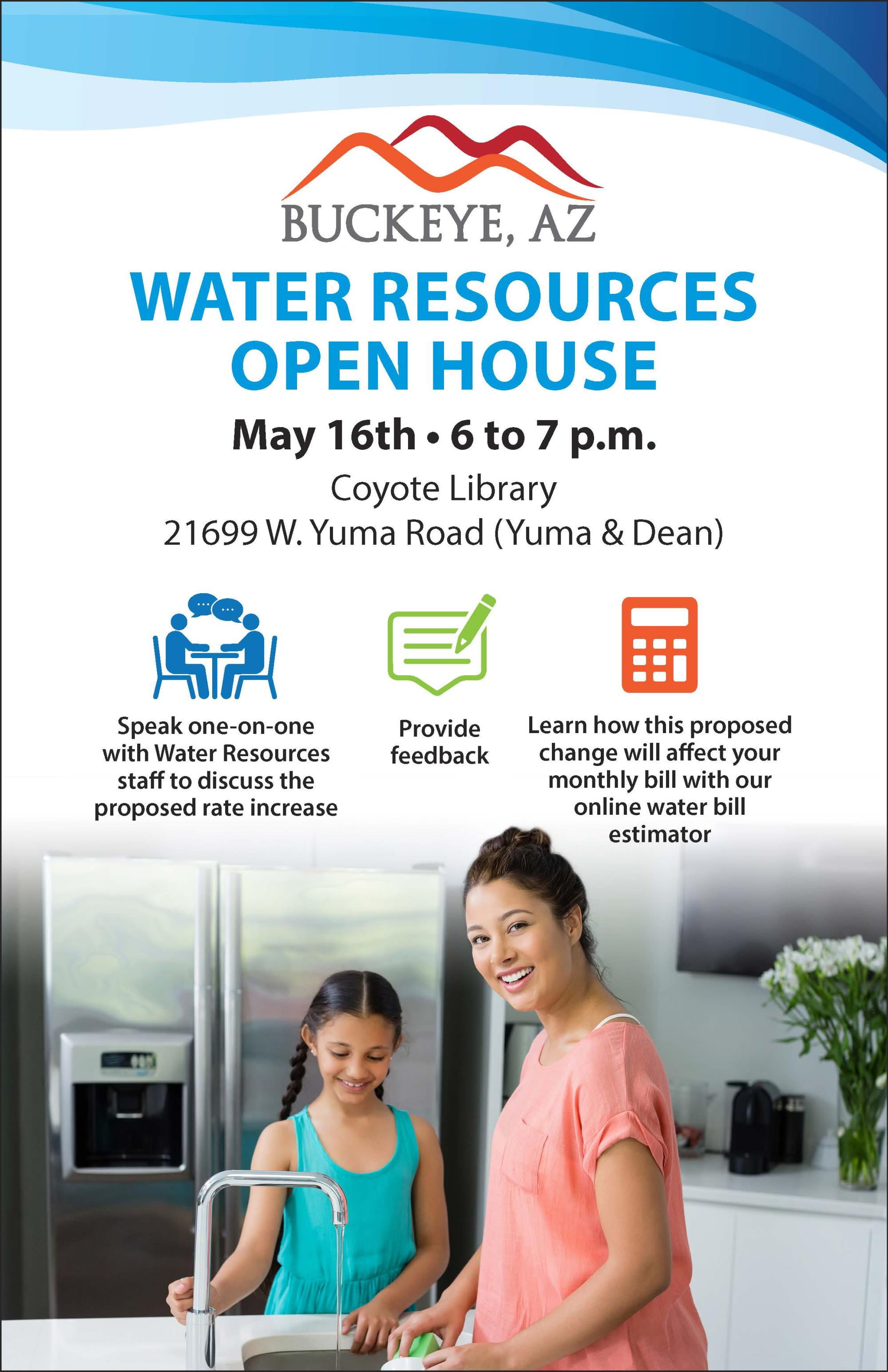 Water Services open house flyer