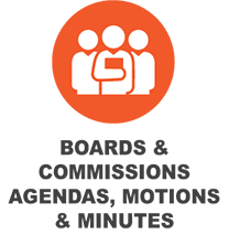 Boards & Commissions Agendas, Motions & Minutes Button