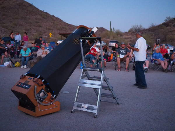 Giant Telescope at star gazing event