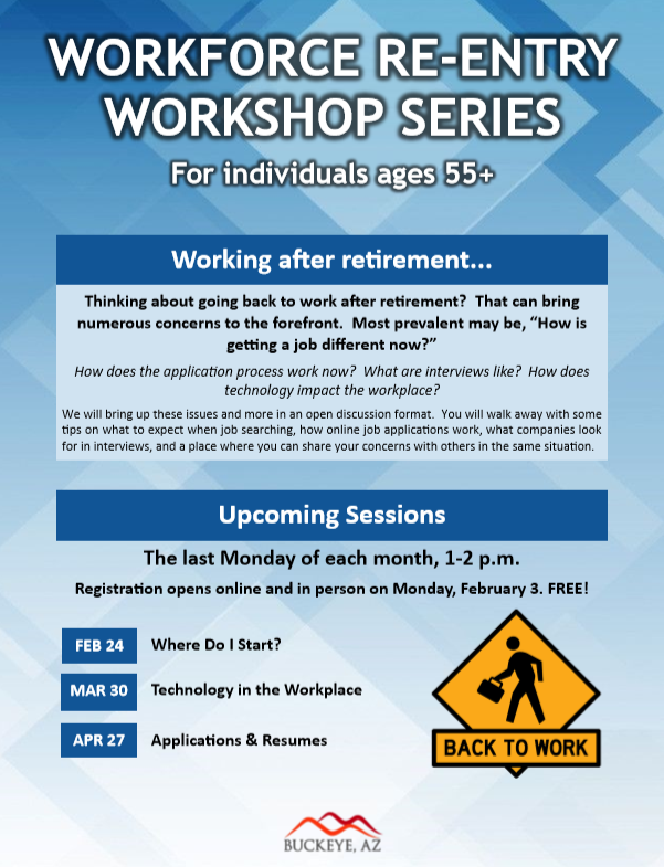 Workforce Reentry Workshop