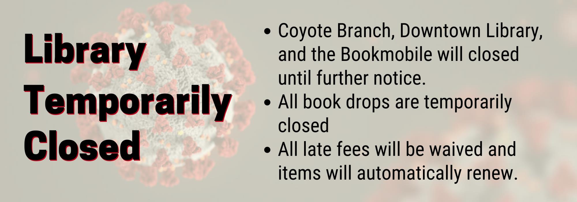 The Buckeye Public Library is Temporarily Closed