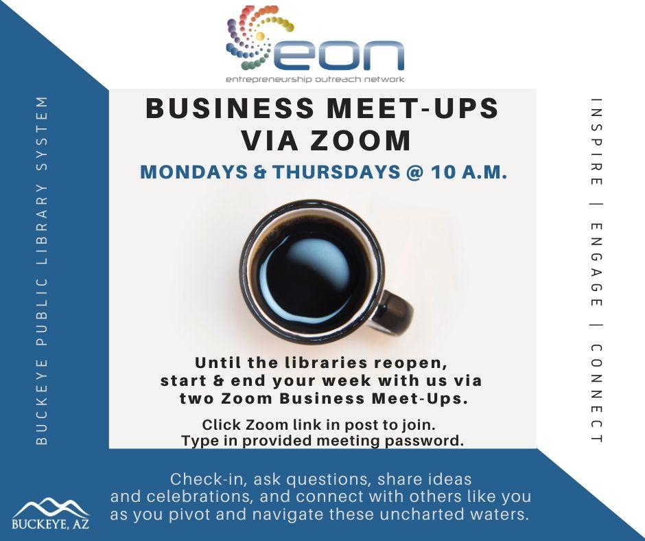 Flier Daily Business Meet-Ups via Zoom