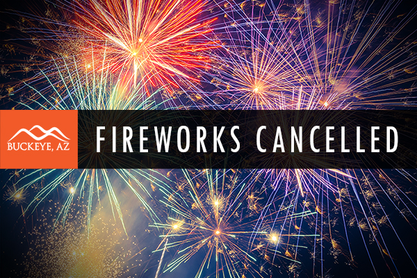 "Fireworks - text over ""Cancelled"""