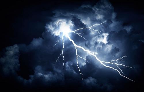 Lightning strike. www.istockphoto.com/portfolio/Believe_In_Me